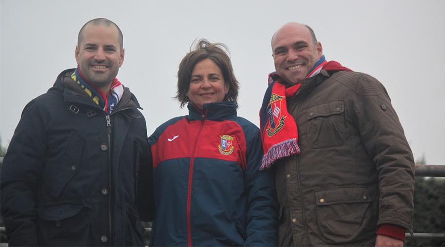 Nos visitan el Alcalde y el Concejal de Deportes