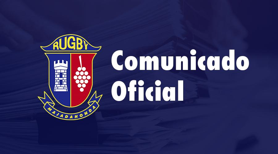 Comunicado Oficial Rugby Majadahonda