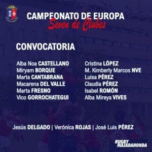 Convocatoria Campeonato de Europa 7